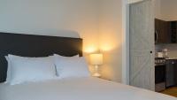 Bedroom with sliding door