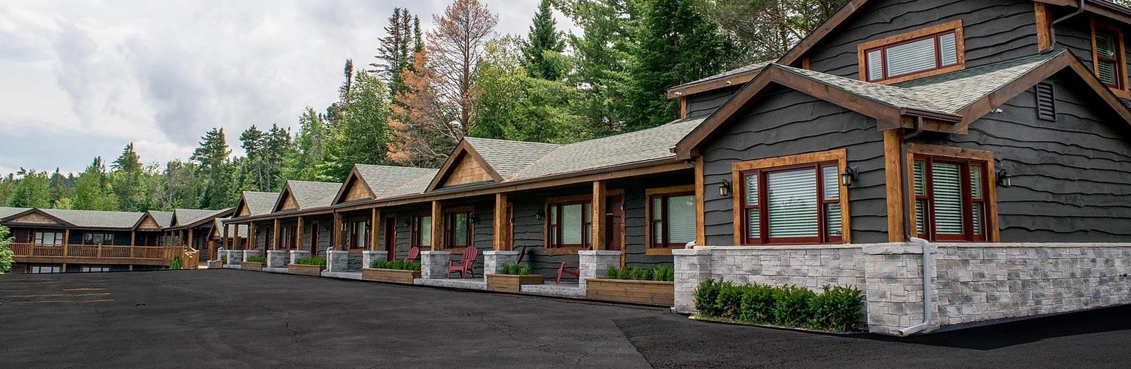 Adirondack style motel building